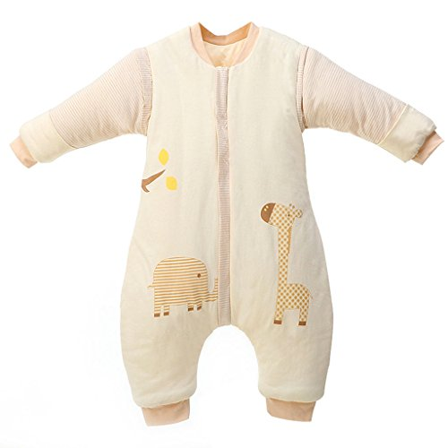 Bolsa de Dormir de Bebé de Mangas Largas,Invierno Sacos de Dormir para Bebé Niños Niñas 3.5 Tog XL