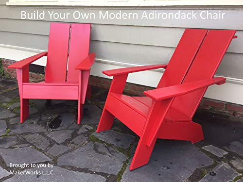 Build Your Own Modern Adirondack Chair: Digital Woodworking Plans and...