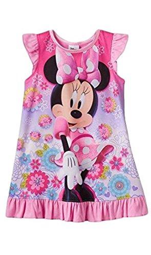 Disney Nachthemd Minnie Maus 98/104 Nachtwäsche Mädchen Sommer USA Size 4 t Kleid