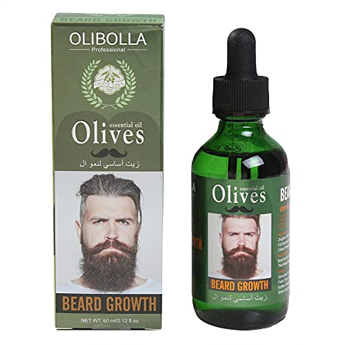Beard Growth Oil,Natural Plant Extraction Olives Essential...