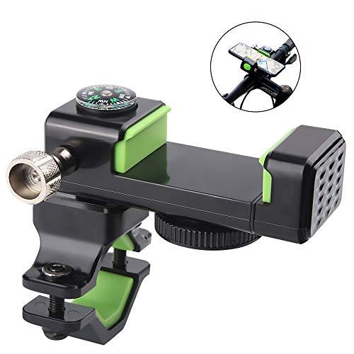 Warxin Handyhalterung Fahrrad, 360° drehbarer Halterung Universal Motorrad Handy Halter für iPhone X/8/7/6, Samsung Galaxy Huawei Handy mit 4-7,2 Zoll Smartphone (Mit Kompass)
