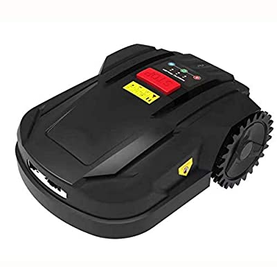 AHELT-J Robotic Lawn Mower, Battery Powered Mower-7.1-inch Mowing Smart Robot Lawn Mower, Slopes Up to 20 Degrees and Grass Up to 2.2 Inches Tall, Suitable for Yards Up to 800m²,A