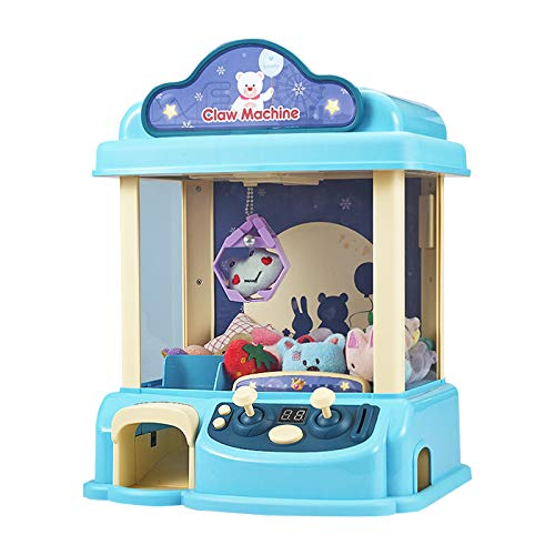 ForBEST Claw Machine Magical Claw Machine with12 Dolls, USB Cable, Adjustable Music and Volume, Best Gift Toy for Kids (Blue)