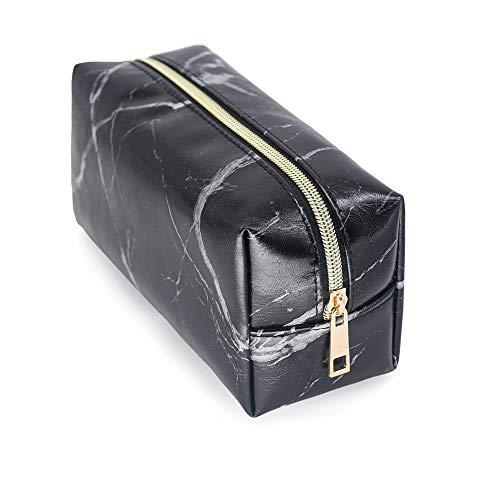 Bolsa de aseo cosmetica,para llevar maquillaje fundamental de bolsa de aseo portátil impermeable de bolsa de organizador viaje diaria organizador de artículos de aseo al aire libre,negro