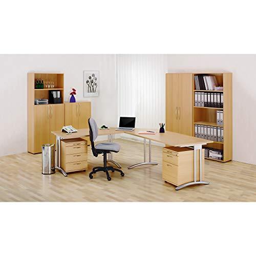 Hammerbacher BIANCA Büro-Schreibtisch - Breite 1200 mm - lichtgrau | BS12/5 - Besprechungstisch Besprechungstische Büromöbel Bürotisch Bürotische EDV-Arbeitsplatz EDV-Arbeitsplätze Mehrzwecktisch Mehrzwecktische PC-Tisch PC-Tische Schreibtisch