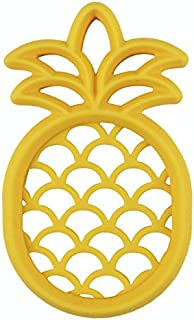 Itzy Ritzy Silicone Baby Teether – BPA-Free Infant Teether with Easy-to-Hold Design and Textured Back Side to Massage and Soothe Sore, Swollen Gums, Pineapple