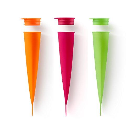 Lékué Eisformen 3 Stück, Silikon, Mehrfarbig, 4 x 20.2 x 4.8 cm, 3-Einheiten