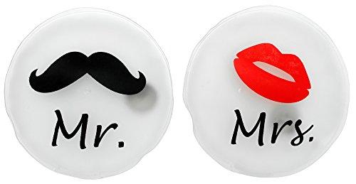 MIK Funshopping-Scaldamani e scaldatasche, set di 2Mr & Mrs