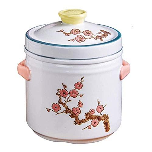 Stew Pot Cerámica Cocina Pot - Almacenamiento térmico, Ahorro de Tiempo, Ahorro de energía, Capacidad de Pan-Capacidad Antiadherente 0.55L_A Utensilios de Cocina TINGG