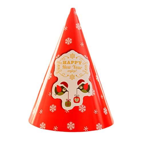 1 sombrero de Navidad, tarjeta de papel, sombreros de fiesta con diseños de Navidad elásticos, bonito gorro de Papá Noel para Navidad, Año Nuevo, festivo, suministros de fiesta