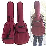 Origlam Funda para guitarra acústica de 40/41 pulgadas, funda impermeable para guitarra, mochila para guitarra suave, correa de hombro doble acolchada, funda suave