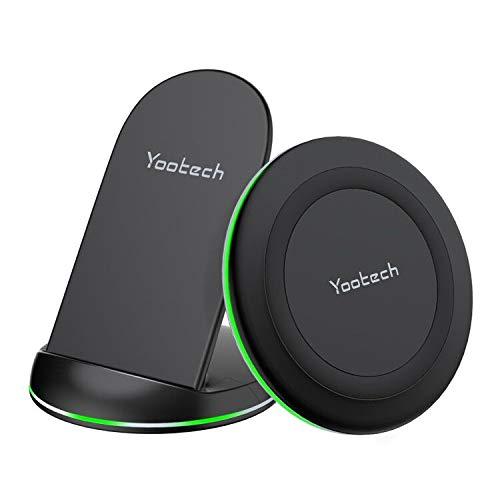 yootech Caricatore Senza Fili,Caricabatterie Wireless,7.5W Adatto per iPhone 11/12 Mini/12 PRO Max/XS MAX/XR/XS/X/8/8+/SE 2020,10W Adatto per Galaxy S20/Note 10/10+/S10/S10+/S10E/S9,Nuovi AirPods PRO