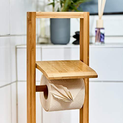 bambuswald© nachhaltiges Toilettenpapier aus 100% Bambus | 8x Rollen á 200 Blatt - 3 lagig sanft trocken & angenehm weich | holzfreies Klopapier in plastikfreier Verpackung | WC-Papier Toilet Paper - 8