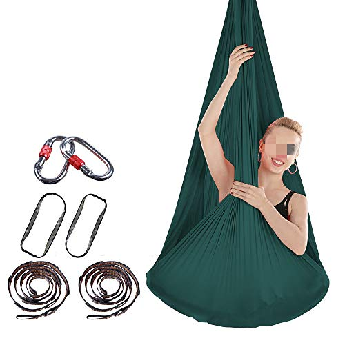 Best Prices! GoaEin Hanging Yoga Sling Durable Stretch Air Yoga Hammock Indoor Silk Anti-Gravity Yog...