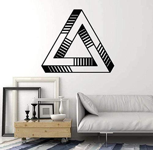 Muurstickers muurschilderingen Decals Vorm Optische Illusie Geometrische Element Vinyl Raam Slaapkamer Woonkamer Creatieve Thuis 42X47cm