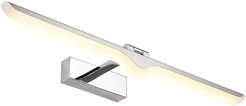 KTOL Warmwei 3000K Eitelkeitslichter, LED 9W Spiegelfront beleuchtung Einstellbar Spiegel schrank licht Wasserdicht Anti-nebel 4 gren-Warmwei 52cm12W
