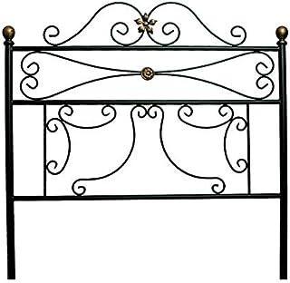 Cabecero de forja Dibujos - Negro, Cabecero para colchón de 150 cm