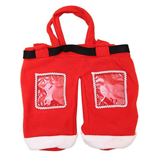 Manyao - Calendario de Adviento para rellenar, bolsa no tejida para regalo, bolsa de regalo, bolsa de regalo de Navidad, bolsa de caramelos, cumpleaños, boda, Papá Noel