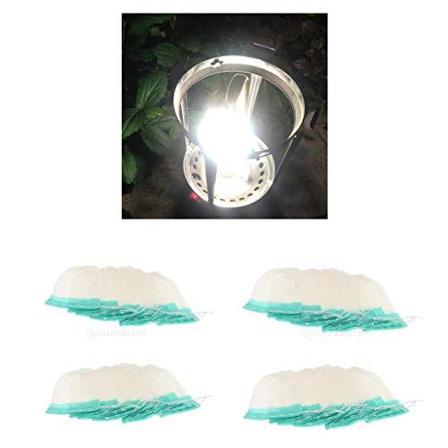 Injoyo 40er Set Glühstrümpfe für Gaslaterne, Gaslampe Glühstrumpf