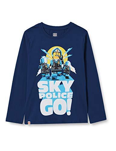 LEGO Jungen MW-Langarmshirt City T-Shirt, 577 Dark Blue, 110