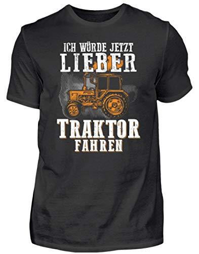 Traktor Shirt · Landwirtschaft · Geschenk für Landwirte · Spruch: Lieber Traktor Fahren - Herren Shirt -4XL-Schwarz