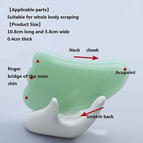 Preisvergleich Produktbild Rziioo Gua Sha Scraping Massage Tool - für die SPA Akupunktur Therapie Trigger Point Behandlung im Gesicht, B