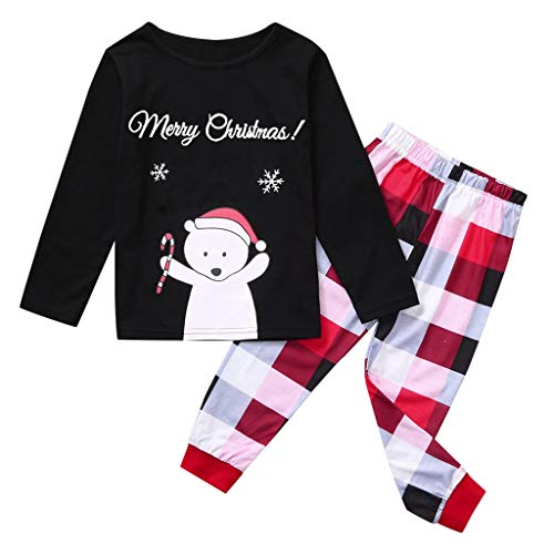 Find Bargain Christmas Family Matching Pajamas Sets Daddy Mommy Kids Xmas Bear Parent-Child Blouse L...