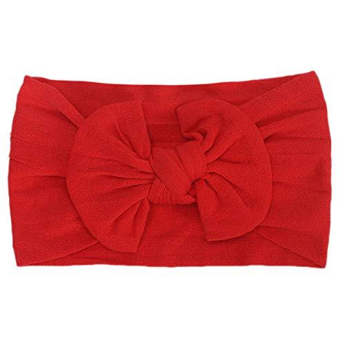 Huhu833 Baby Stirnbänder, Cute Baby Kleinkind Infant Circle Stirnband Stretch Haarband Headwear (Rot)