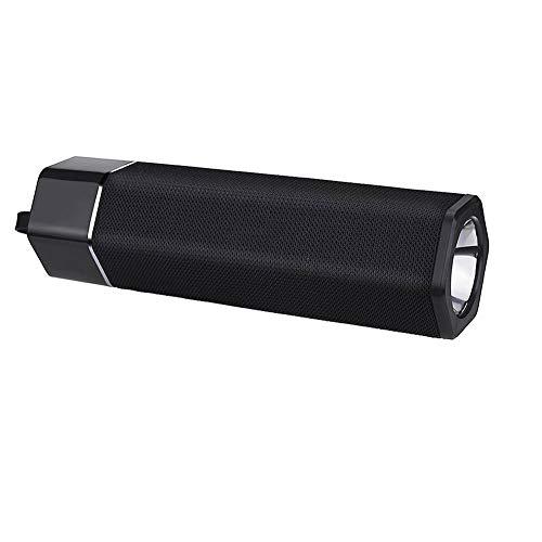 Z-XFY Bluetooth-Lautsprecher, Bluetooth-Lautsprecher Stoff LED-Taschenlampe Unterstützung OEM-Audio-Eingang des beweglichen drahtlosen Bluetooth-Lautsprecher für Heim,Schwarz
