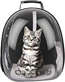 LAIHUAQUAN Pet Carrier Backpack Space Capsule Pet Carrier Shoulders Bag Portable Double Zipper Adjustable Padded Mesh Shoulder Straps Breathable Transparent with Ventilation Holes for Cat Dog Puppy