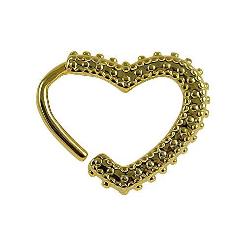 Gold eloxierte Stammes-Punkte Herzknorpel Einzeldichtung Knorpel Daith, Helix, Tragus Piercing Ring