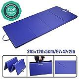 CCLIFE 245x120x5cm Bleu Tapis de Gymnastique Epais - Matelas Gymnastique - Tapis Sol...