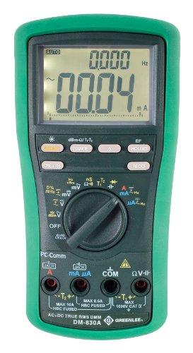 Greenlee DM-830A DMM, TRMS AC+DC,DUALTEMP