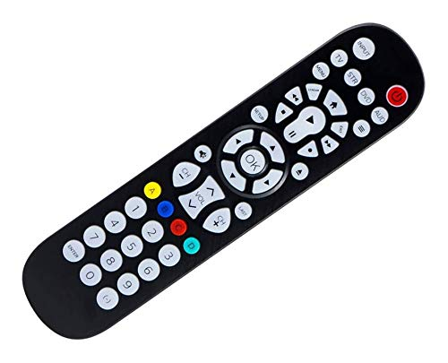 SccKcc Philips backlight universal remote control, suitable for Samsung, Vizio, LG, Sony, Sharp, Roku, Apple TV, RCA, Panasonic, Smart TV, streaming player, Blu-ray, DVD, 4 devices, black, SRP9348D/27