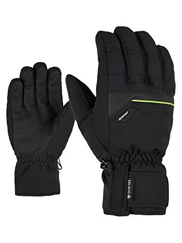 Ziener Herren Glyn GTX Plus Glove Alpine Ski-Handschuhe/Wintersport   Wasserdicht, Atmungsaktiv, Warm, Gore-tex, Black/Lime Green, 11