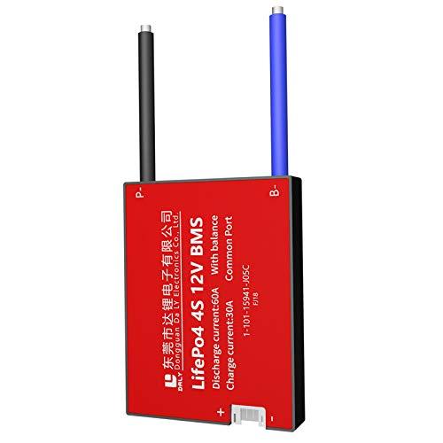 DALY BMS 4S 12V 60A LiFePO4 Batería Protección Junta con Balanza Cables BMS para 18650 Batería Pack 12V