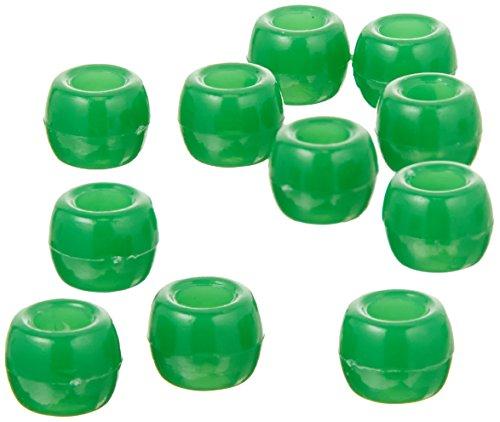 Green 9mm Pony Beads 1000 pcs