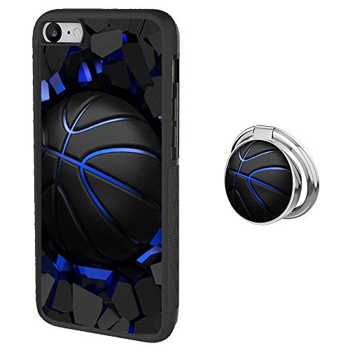Basketball Case for iPhone 7/8/SE 2nd 2020 Case with Grip Ring Holder Multi-Function Cover Slim Soft and Hard Tire Shockproof Protective Phone Case for iPhone SE 2nd 2020