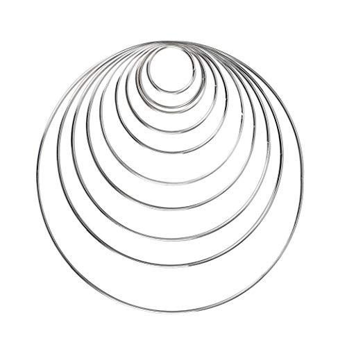 Metall Ringe Hoops 10 Stück Silber Metallringe für Traumfänger und Handwerk 10 Größen