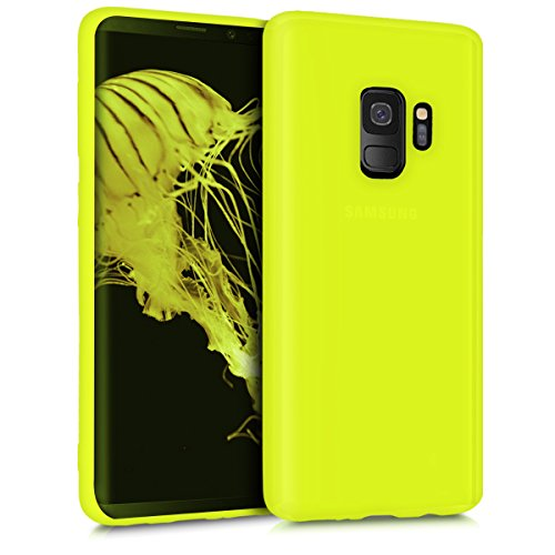 kwmobile Cover Compatibile con Samsung Galaxy S9 - Custodia in Silicone TPU - Backcover Protezione Posteriore- Giallo Fluorescente