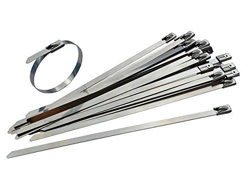 100 unidades de acero inoxidable bridas – 200 mm x 7,9