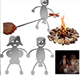 SXLJLDH Hot Dog Fork/Marshmallow Roaster, Novel and Interesting Metal Craft Barbecue Stick, Campfire, Barbecue, Party, Outdoor Barbecue Fork, Safe and Easy to use (6 Pieces)