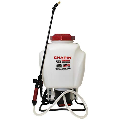 powerful Chapin International 63985 Black & Decker Backpack Sprayer, 4 gallons, translucent white