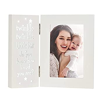 YEASL Baby Keepsake Picture Frame 6x4-Twinkle Twinkle Little Star Tabletop Photo Frame for Baptism,Boy Girl,Mother daughter gift  46