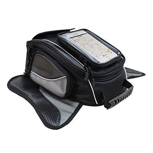 Nero Motociclo Borse serbatoio - Oxford borsa con sacco nero per motocicletta - Borsa magnetica forte per Honda Yamaha Suzuki Kawasaki Harley - Dracarys