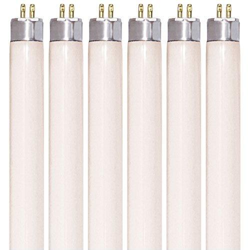 (Pack of 6) F8T5/CW - T5 Fluorescent 4100K Cool White - 8 Watt - 12 Super Long Life Light Bulbs