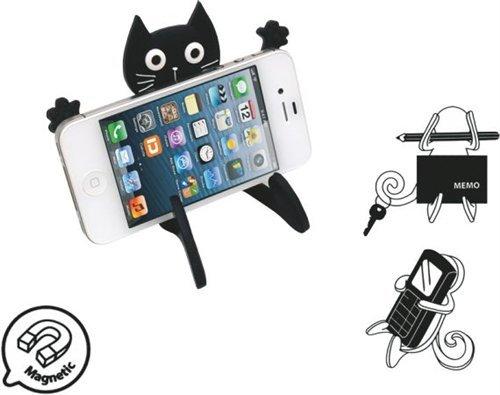 Dakota - Biegsamer Handyhalter Katze, schwarz