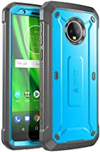 SUPCASE Full-Body Rugged Holster Case for Moto G6, with Built-in Screen Protector for Moto G6 5.7 Inch (2018 Release), Unicorn Beetle Pro Series -Retail Package (Blue)