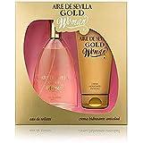 POSSEIDON Set Perfume Mujer Aire de Sevilla Gold - Eau de Toilette y Crema Hidratante Antiedad (15119)