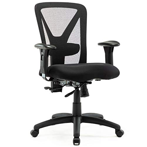 Big and Tall Office Chair 400lbs, Adjustable Ergonomic Mesh Task Chair, High Back Swivel Rolling Home Office Desk Chair for Overweight Tall People